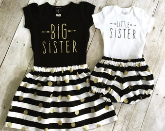 Girls big sis outfit, big sister shirt, little sister shirt, sibling shirts, pregnancy announcement shirt, baby announcement shir