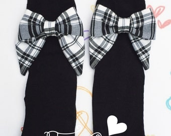 One Pair Bow Socks