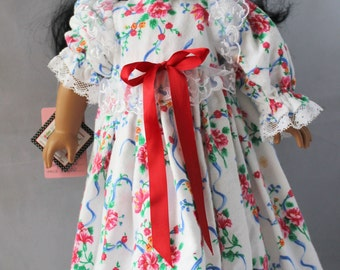 Sleep Well Floral White Flannel Gown