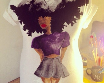 Afro Chic Tee by Idun Illustrations