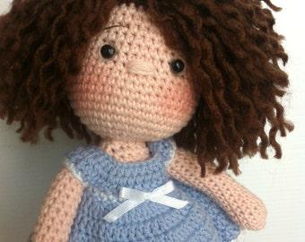 Muñeca de Crochet, tejida a mano, totalmente personalizada.
