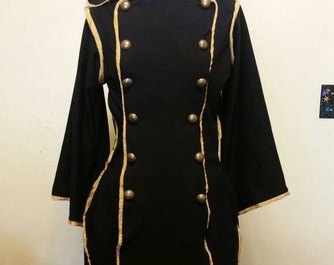 Custom Made Military Jacket with Brass Buttons and Piping