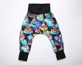 Toddler Harem Pants Mickey Mad Tea Party Disneyland Fireworks 0 to 6 years Infant Harem Joggers Baby Disneyland Outfit Kids Boys Harem Pants