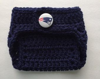New England Patriots diaper cover, Patriots diaper cover, Patriots shower gift, newborn diaper cover, baby diaper cover, boy diaper cover