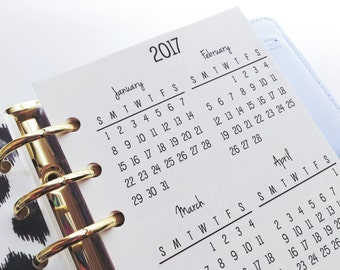 Printed Personal Size Yearly Calendars #200-92