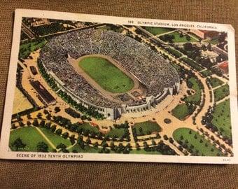 "1932 Olympic Stadium, Los Angeles, CA, ""Scene of 1932 Tenth Olympiad"""
