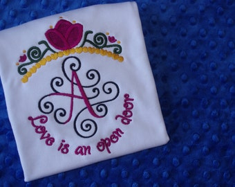 Princess Tiara Monogrammed Shirt- Anna