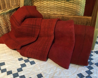 Wool Fabric for Rug Hooking and Applique, 4 Pieces, Hand-dyed, Select-A-Size,  Marinara Red W215