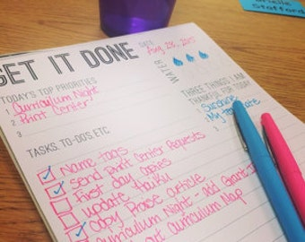 Get It Done - Daily Planning Notepad