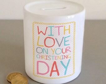 Christening Money Jar