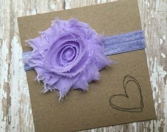 Lilac Shabby Flower Headband