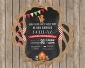 Cookie Exchange Party Printable Invitation - Cookie Exchange Invitation - Gingerbread House Party Invitation - Chalkboard - DIY Printable