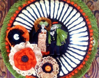 halloween & day of the dead fusion wreath