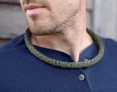 Copper Necklace Woven Reclaimed Copper Jewelry Masculine Wear