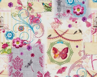 Captivating 42   60 Inch Round Bistro Tablecloth Provencal Spring Charming   Cotton  Coated Waterproof Fabric