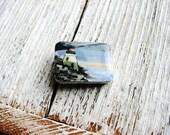 Beach Lighthouse Magnet, Hand painted Magnet, Minimalist Art, Nature Magnet, Beach House Decor, Hand Painted Fridge Art, Refrigerator Magnet