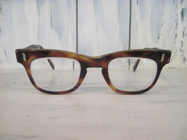 0079b6184d Vintage Whitney amber horn rim cat eye antique frames eyeglasses for men  women