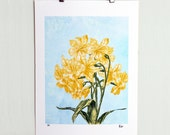 The Spring Herald A4 print, Limited Edition Art Print, Illustration, Flower Illustration