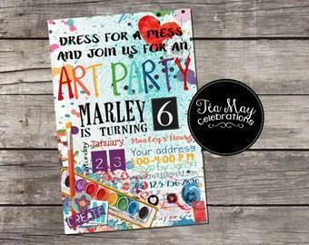 Custom Art Party Invitation