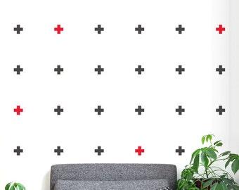 autocollant croix rouge etsy. Black Bedroom Furniture Sets. Home Design Ideas