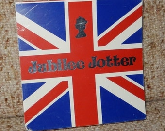 "Vintage ""Jubilee Jotter"" from 1977 - Celebrate the Queen's 25th Jubilee!"
