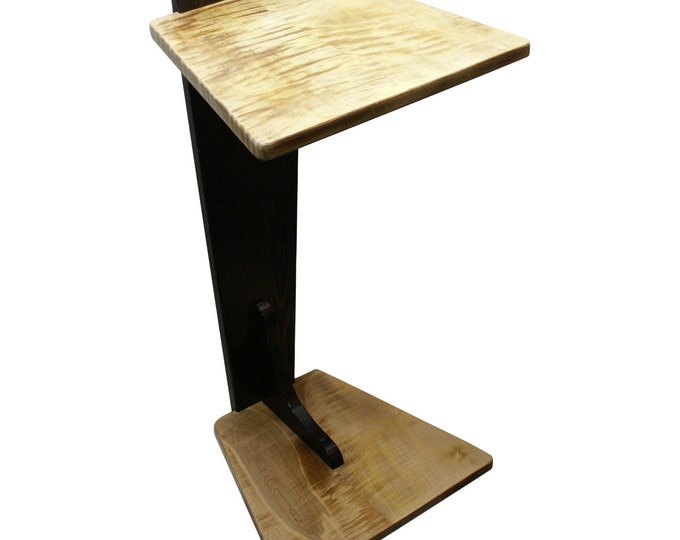 Perching Table - Wenge & Curly Maple (Large Size)