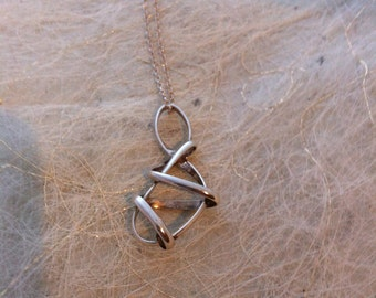 Twisty Silver Pendant