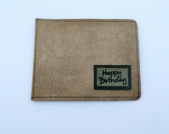 Man's Wallet Gift Card or Money Holder -- Masculine Gift Card -- Masculine Money Holder