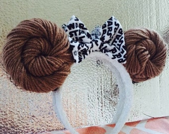 Princess Leia Star Wars Disney Minnie Mouse Ears Headband