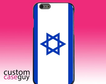 Hard Snap-On Case for Apple 5 5S SE 6 6S 7 Plus - CUSTOM Monogram - Any Colors - Israel Israeli Flag