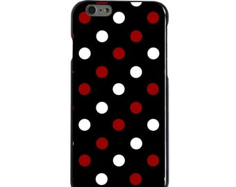 Hard Snap-On Case for Apple 5 5S SE 6 6S 7 Plus - CUSTOM Monogram - Any Colors - South Carolina USC Gamecocks Color - Polka Dot Pattern