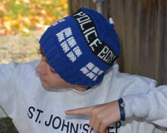 Tardis Hat - MADE TO ORDER