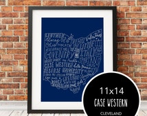 Unique cleveland art related items etsy for T shirt printing lakewood ohio
