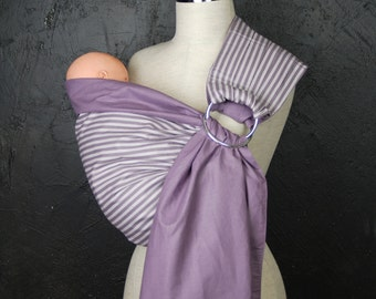 Baby Sling Rings/Purple Baby Carrier/Baby sling wrap/Reversible Baby ring Sling/Baby Wrap/Baby Sling Stripes/Baby gift