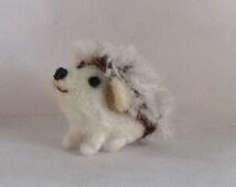 Miniature hedgehog needle felted soft sculpture