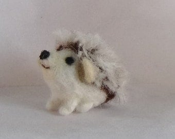 Miniature hedgehog needle felted soft sculpture