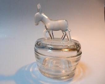 Donkey Covered Trinket Jar