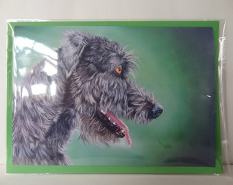 Greetings Card Print - Ivor the Wolfhound