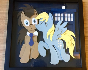 12x12 Kissy Doctor Whooves and Derpy