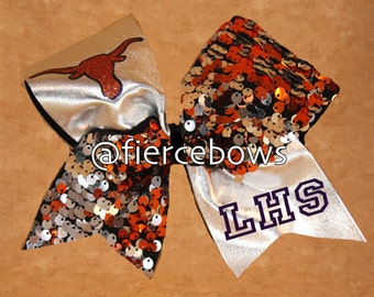 Tick Tock Game Day Cheer Bow