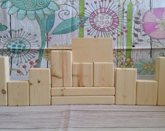 Unfinished Reversible Block Sets -  12 Pieces - Stacking Blocks -  Holiday Blocks