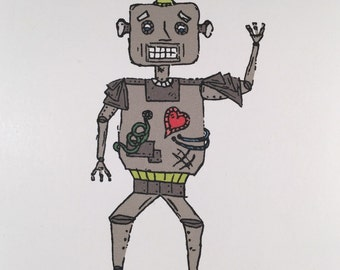 I Am Programmed To Love You - Robot Love Card - For Valentines Day or General Card
