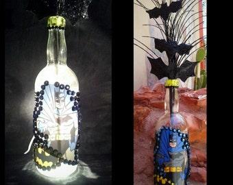 Batman Liquor Bottle Lamp