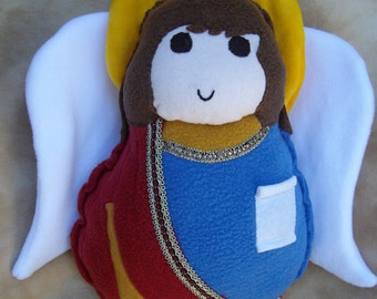 Saint Doll St Gabriel  the Archangel Soft Catholic Religious Toy