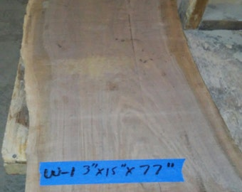 Walnut Live Edge Slabs