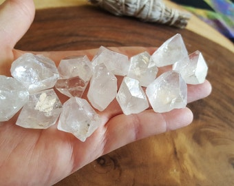 Apophyllite tips ~ 1 Reiki infused crystal point approx .75 inch