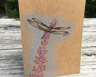 Dragonfly - Hand Drawn Greeting Card