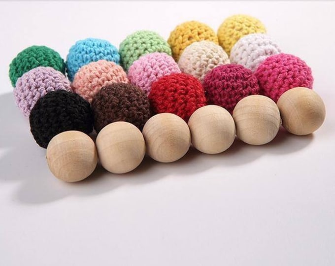 Wholesale Crochet Beads 50pc/lot 16mm Round Mix Color Ball Knitting Gift