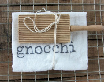 Gnocchi Board WITH Kitchen Towel