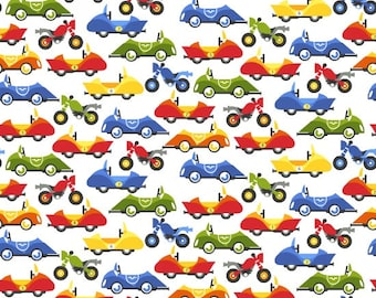 Safari Drive- Race Cards and Race Bikes Fabric